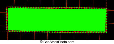 Film frame tape 35 mm. Film strip for photography isolated on chroma key background. Wide and horizontal frame with blank space, empty for photo.