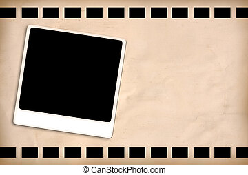 Film frame with space for text vintage style.