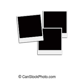 Film Frames - Several instant film frames on an isolated...