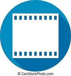 film frames flat icon