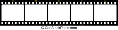 Film frames - Vector image of numbered negative film frames
