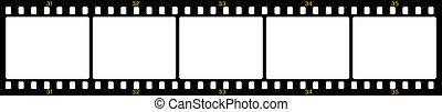 Vector image of numbered negative film frames