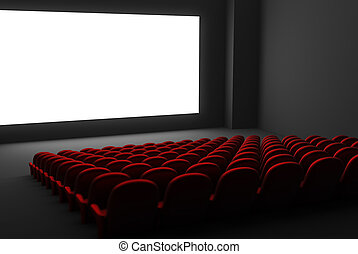 film, freigestellt, theater, interior.