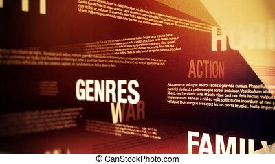 film, genres, relativo, parole, cappio