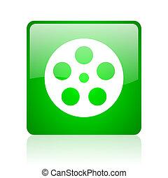 film green square web glossy icon