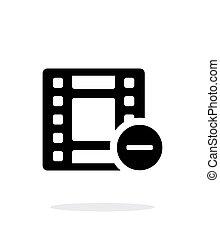 Film icon on white background.