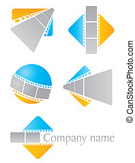Set of icons for cinema or photo studio