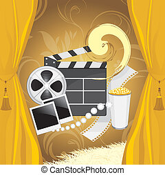 Film industry background