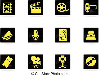 Film Industry icons set for web sites and user interface