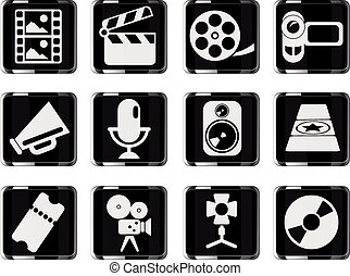 Film Industry Icons - Film Industry simply symbols for web...