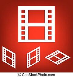 Film. Isolated illustration icon set