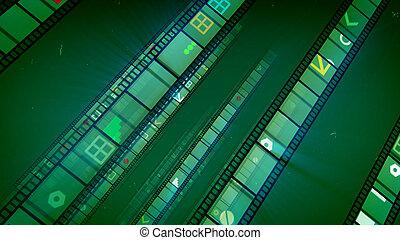 film, khaki, hintergrund, retro, bänder