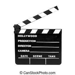 film, klaps, -, obrzynek ścieżka