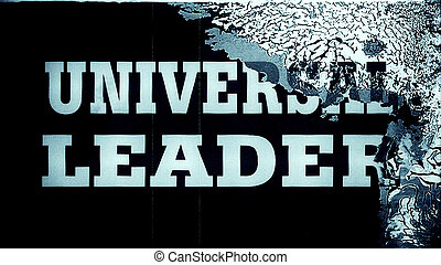 Abstract film leader frame macro with the text 'Universal Leader'. High resolution macro 10837.
