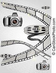 film macchina fotografica, arricciato