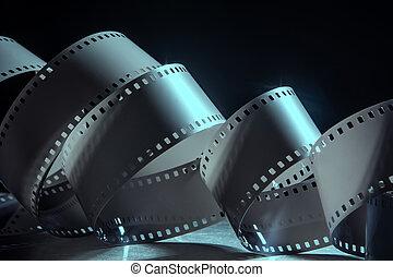 film., milímetros, negativo, 35, fotográfico, rollo, ...