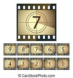 film, nedräkning