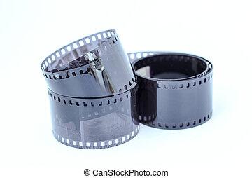 Film Negative on White Background
