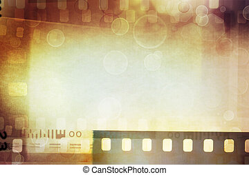 Film negatives background