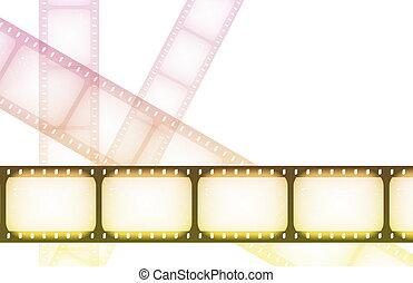 film, noc, szczególny, szpule