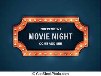 film, nuit, signe