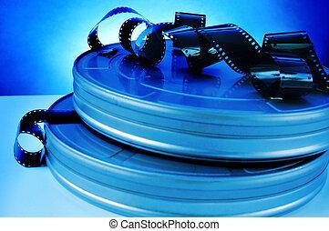 film, och, film filma, rulle, kanister