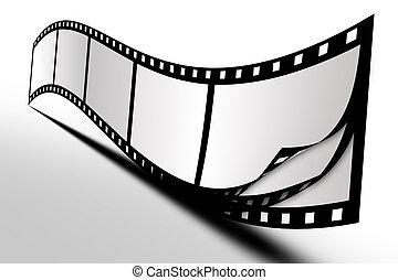 Film on background white