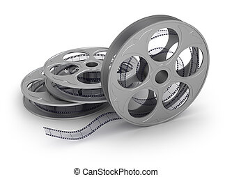 Film on the reel, isolated