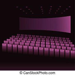 film, opróżniać, teatr
