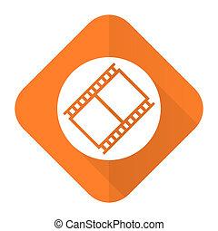 film orange flat icon movie sign cinema symbol