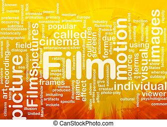Film picture background concept