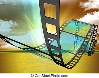 film  - 3d illustration of Film Strip