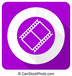 film pink flat icon movie sign cinema symbol
