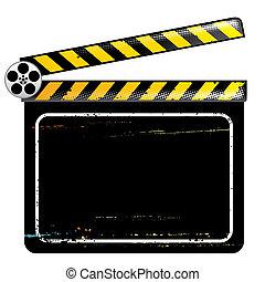 film, plank, klepel