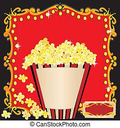 film, pop-corn, fêtede l'anniversaire