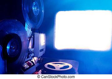 Film Projector in the Dark