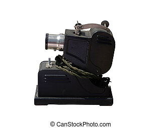 film projector.