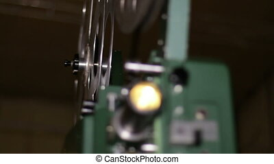 Film Projector Projecting 16mm Film