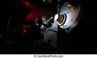 Film Projector Projecting 35mm Movie