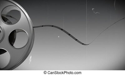 Film reel against black and white background 4 - Digitally...