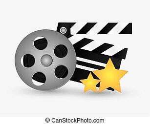 Film reel cinema and movie design