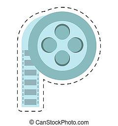 film reel cinema video tape cut line