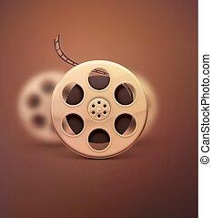 Film Reel - Film reel, retro cinema, eps 10