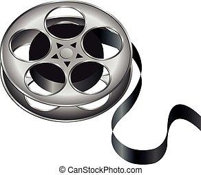 Film Reel - an illustration of an old film reel