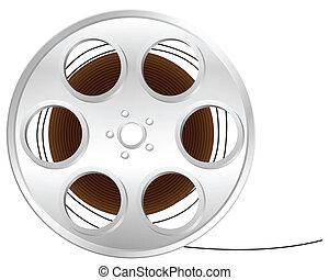 film reel - Film reel isolated on white background. Vector...