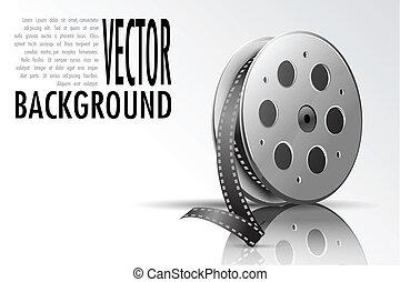 Film Reel - illustration of film reel on abstract background