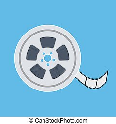 Film reel flat icon