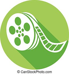 film reel flat icon (film strip)