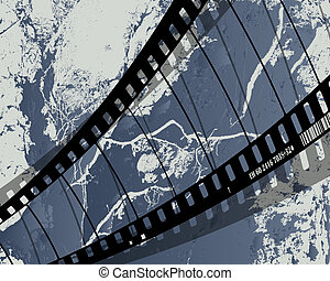 film reel grunge - Background with grunge film reel