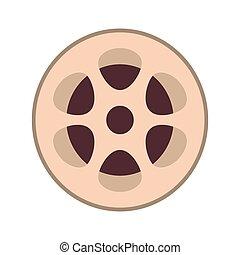 film reel icon - flat design film reel icon vector...